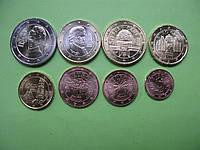 Австрия , набор евро монет 2017 г , UNC.