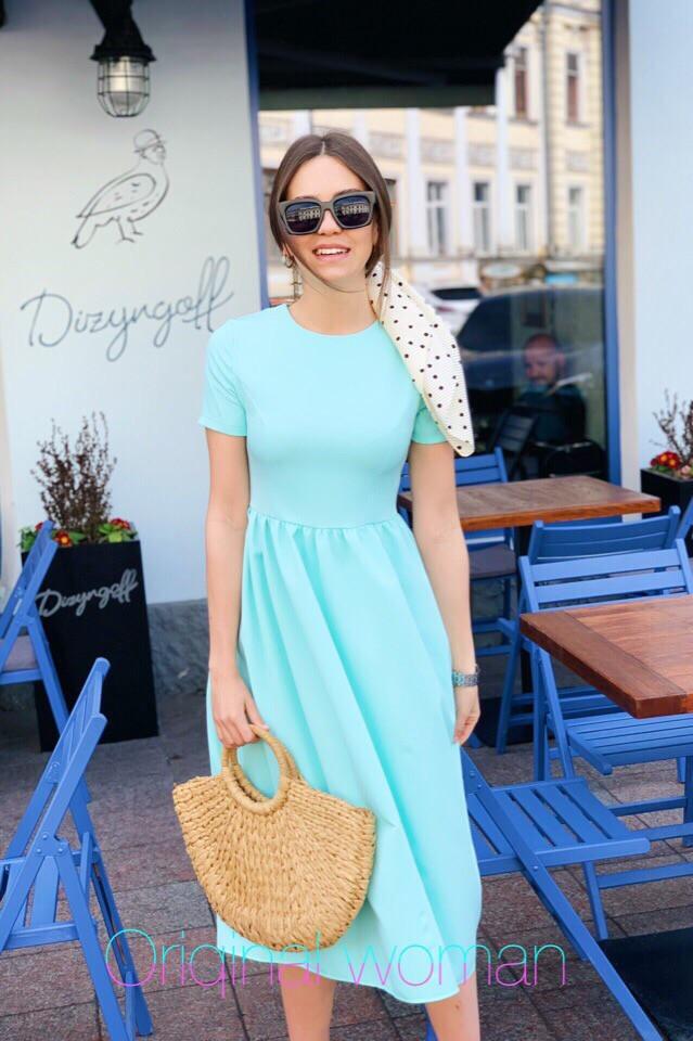 Летнее платье с завышенной талией и пышной юбкой 2plt2986