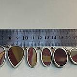 Ожерелье колье натуральный мукаит яшма в серебре Индия, фото 2