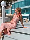Летнее легкое платье без рукава длинное с поясом 73plt3004, фото 3