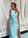 Летнее легкое платье без рукава длинное с поясом 73plt3004, фото 4