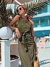 Летнее легкое платье без рукава длинное с поясом 73plt3004, фото 5