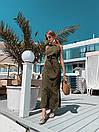 Летнее легкое платье без рукава длинное с поясом 73plt3004, фото 6