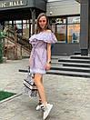 Хлопковое платье с открытыми плечами и воланом 33plt3011, фото 2