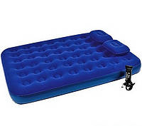 Двуспальный надувной матрас Bestway+ Насос+Подушки,  размер 203х152х22 см