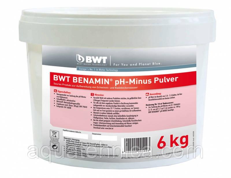 Средство для понижения рН BWT BENAMIN pH-minus Pulver 6 кг для бассейна