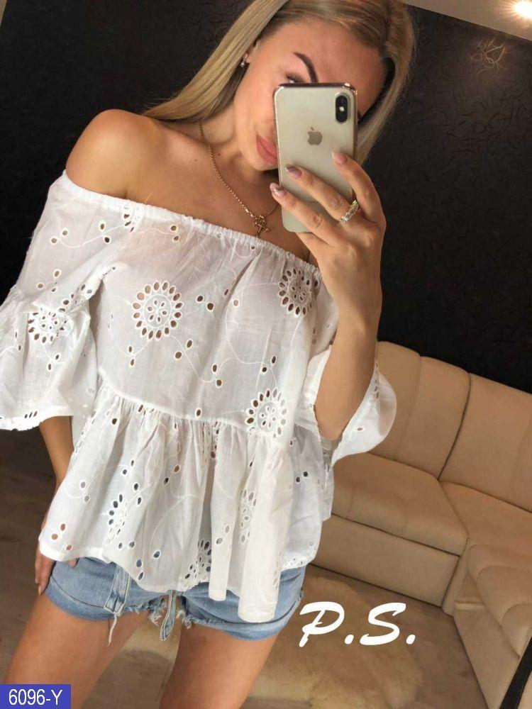 Блуза белая хлопок