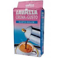 Молотый кофе Lavazza Crema e Gusto gusto dolce 250 гр