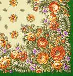 """Платок шерстяной с с шерстяной бахромой """"Южанка"""", 89x89 см рис. 1387-9, фото 2"""