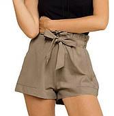 Стильные женские шорты с бантом-поясом (в расцветках)