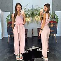 Комбинезон женский льняной модный с брюками кюлоты Dld1011, фото 1