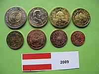 Австрия , набор евро монет 2009 г. UNC.