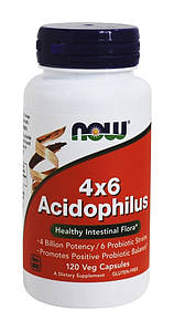 Пробиотик NOW 4x6 Acidophilus 120 veg caps