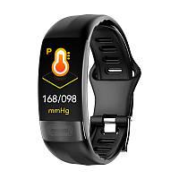 P11 фитнес браслет тонометр давление крови ЭКГ кардио пульсомер для iPhone Android спорт трекер черный