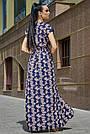 Синее платье с цветочным принтом длинное женское, фото 5