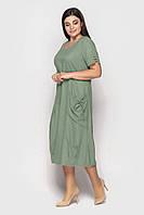 Платье женское. Модель 188. Хаки. Размеры 50-64