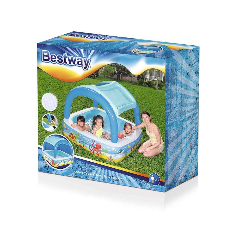 Детский надувной бассейн 52192 - незаменимый атрибут активного отдыха ребенка в жаркое время года. Р