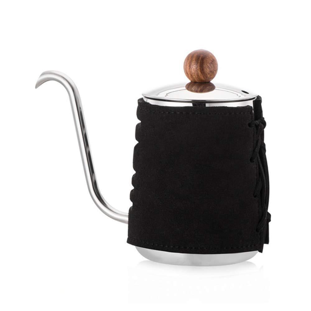 Чайник Sulives с термометром для заваривания кофе, Черный (0.350 л)