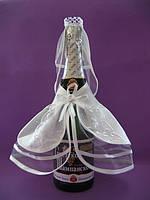 """Свадебное украшение на шампанское""""жених и невеста"""""""
