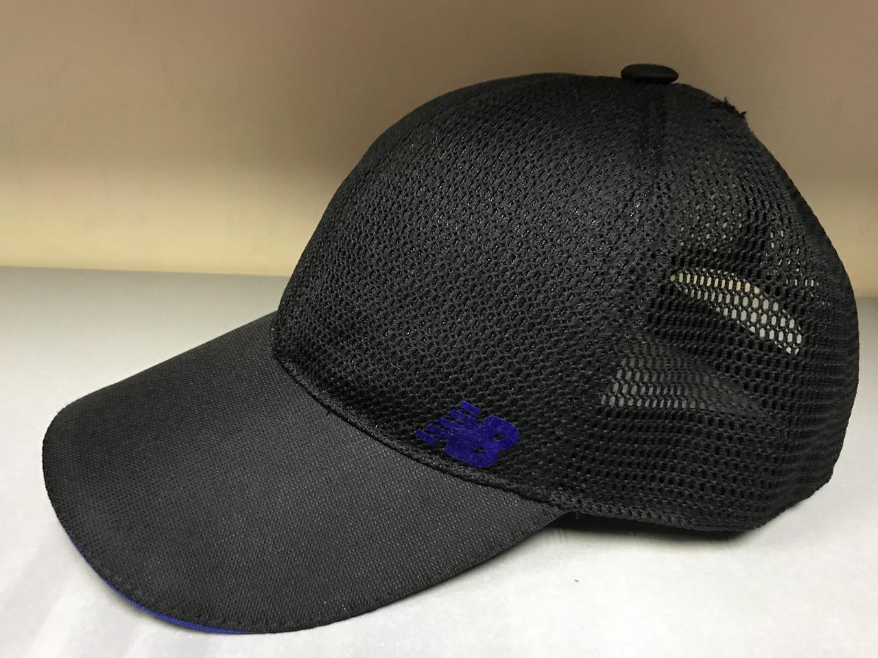 Бейсболка   с регулятором размера задняя часть из сетки цвет черный
