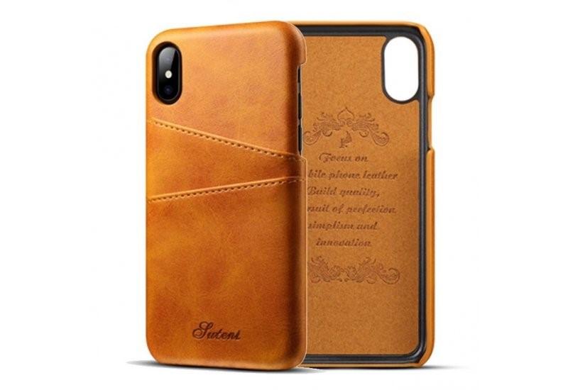 Чехол Juteni для iPhone X Brown (AL1390)