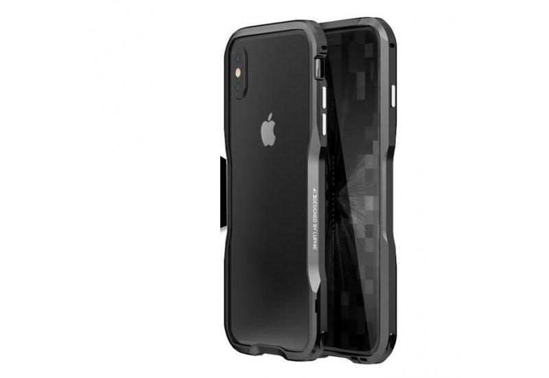 Бампер Luphie Ultra Luxury для iPhone X Grey (AL1501)