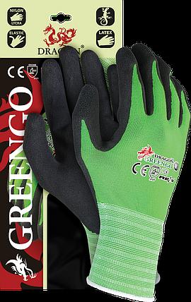 Защитные рукавицы,GREENGO ZB выполненные из нейлона с примесью лайкры, покрытые латексом черного цвета Польша, фото 2