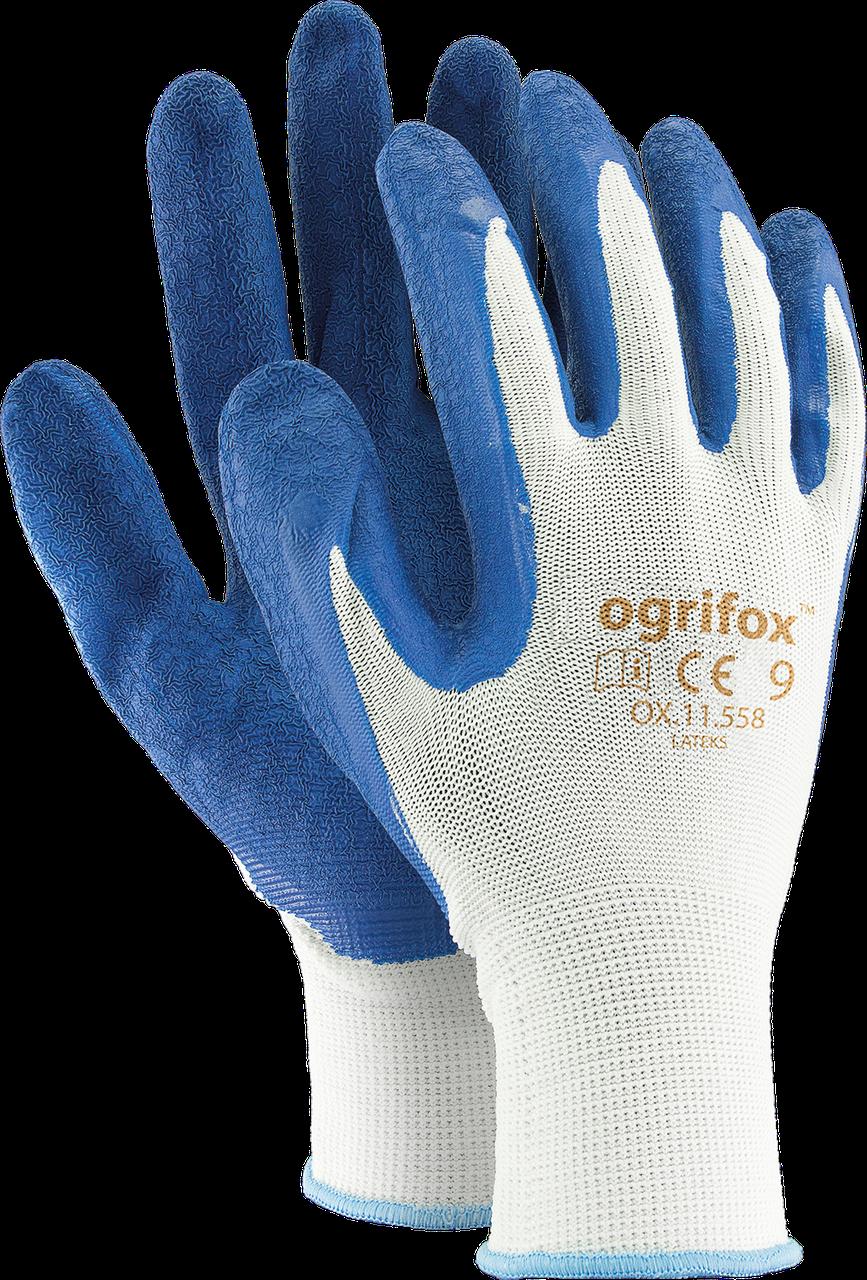 Перчатки защитные OX-LATEKS WN, изготовленные из полиэстера, покрытые латексом Reis Польша