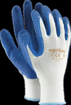 Перчатки защитные OX-LATEKS WN, изготовленные из полиэстера, покрытые латексом Reis Польша, фото 2