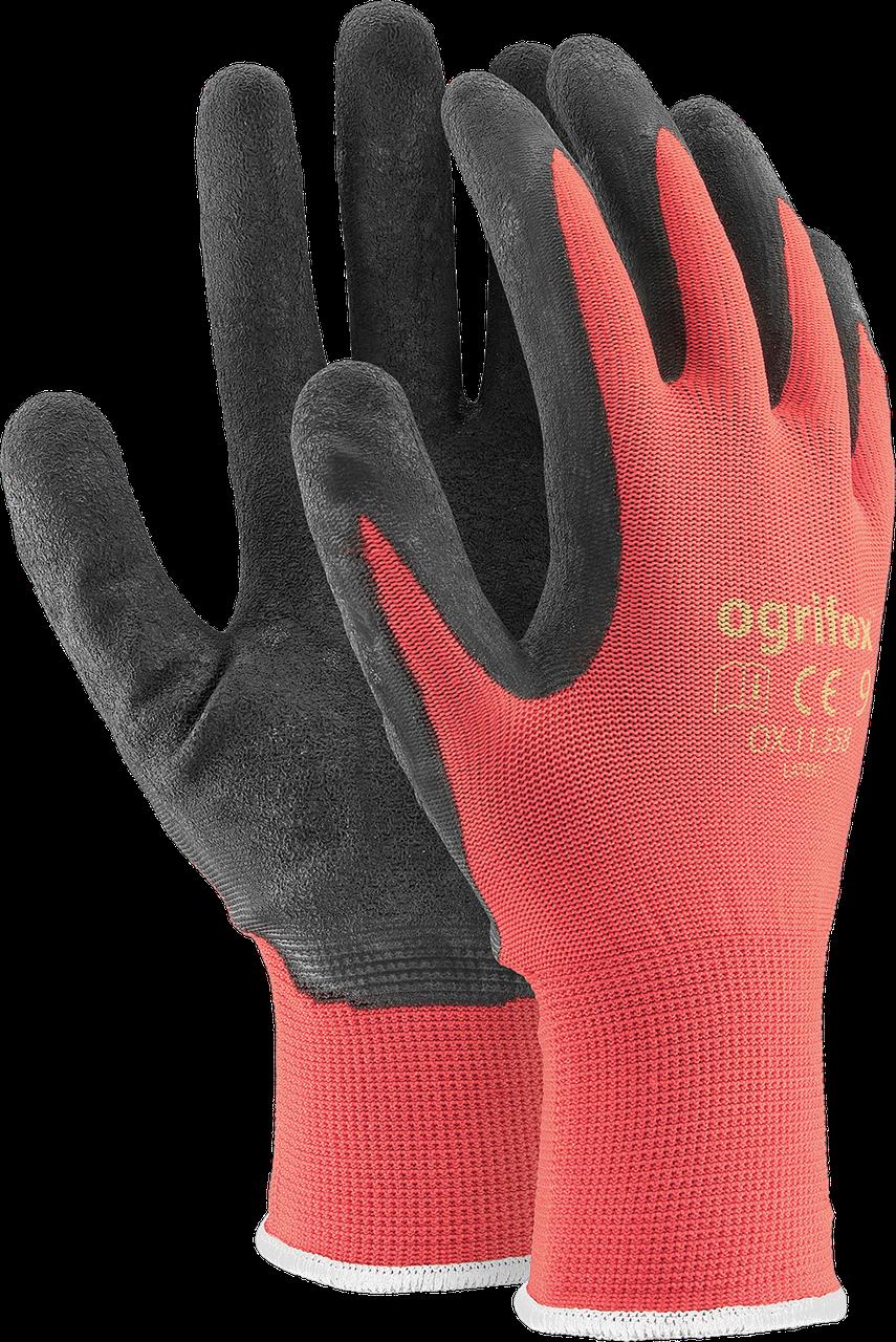 Перчатки OX-LATEKS CB защитные, изготовленные из полиэстера, покрытые латексом  Reis Польша