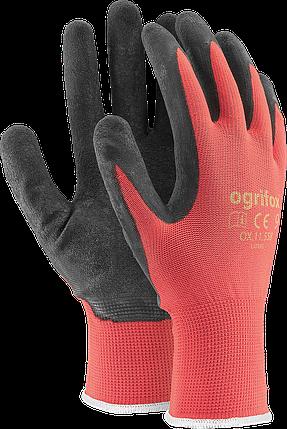 Перчатки OX-LATEKS CB защитные, изготовленные из полиэстера, покрытые латексом  Reis Польша, фото 2