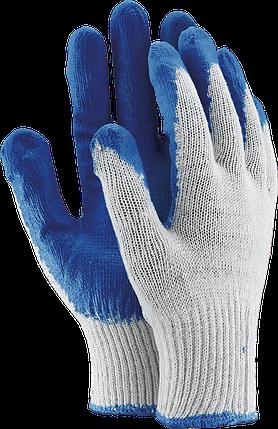 Перчатки защитные OX-UNIWAMP WN из хлопка, покрытые латексом синего цвета. Reis Польша, фото 2