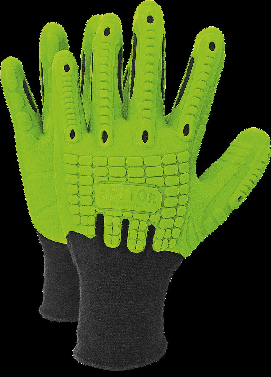 Перчатки защитные RAPTOR ZB из хлопка и полиуретановых волокон Reis Польша