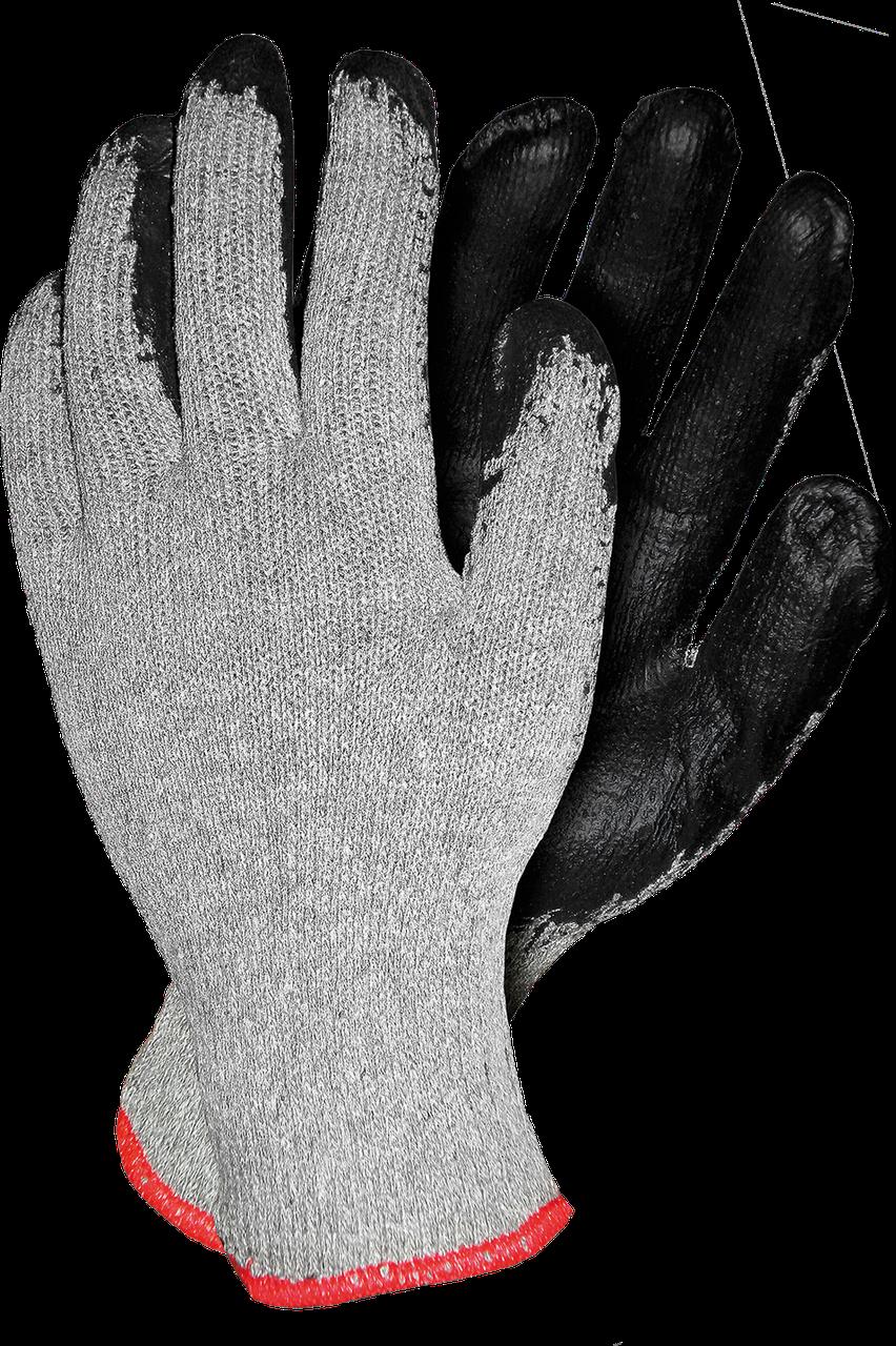 Защитные рукавицы RECO SB с латексным покрытием черного цвета Reis Польша