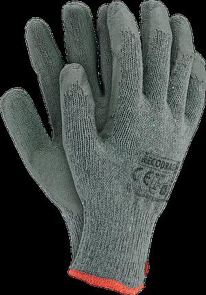 Перчатки рабочие х/б покрытая вспененным латексом RECODRAG SS  REIS Польша, фото 2