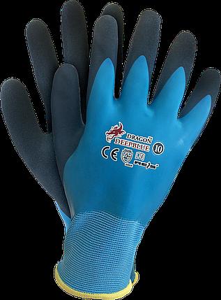 Рабочие перчатки DEEPBLUE NG покрытые латексом REIS Польша (перчатки защитные) , фото 2
