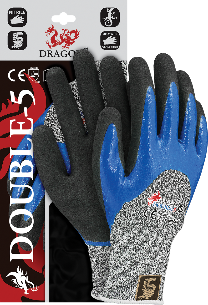 Защитные рукавицы UHMWPE DOUBLE-5 WBNB выполненные из смеси стекловолокна и пряжи Reis Польша