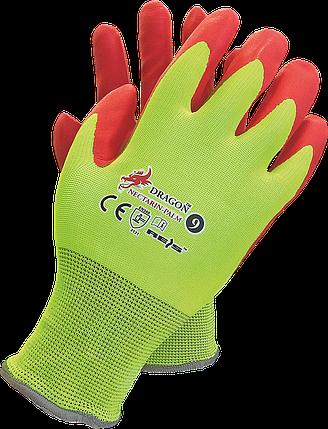 Перчатки NECTARIN-PALM YC защитные рабочие REIS Польша с нитриловым покритием, фото 2