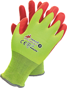 Перчатки NECTARIN-PALM YC защитные рабочие REIS Польша с нитриловым покритием
