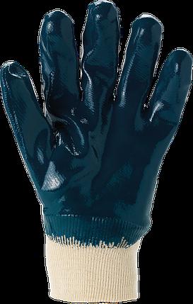 Защитные перчатки, RAHYCRON27-600 G маслостойкие, покрытые нитрилом. REIS Польша, фото 2