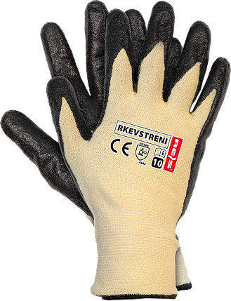 Защитные перчатки с покрытием из нити стрейч-кевлар RKEVSTRENI YB Reis Польша, фото 2