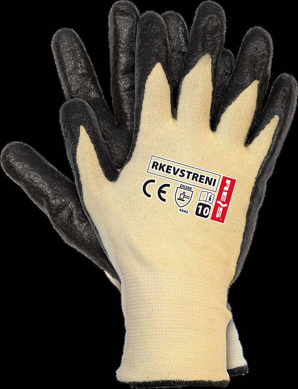 Защитные перчатки с покрытием из нити стрейч-кевлар RKEVSTRENI YB Reis Польша