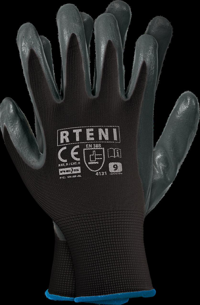 Защитные рукавицы RTENI BS изготовленные из полиэстера, покрытые нитрилом REIS Польша