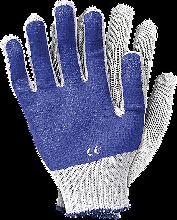 Защитные перчатки трикотажные RR WN покрыты смесью латекса и ПВХ Reis Польша, фото 2