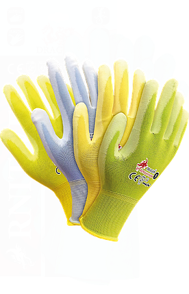Защитные перчатки,RPOLICOLOR MIX-YPZJN выполненные из нейлона ярких цветов Reis Польша, фото 2