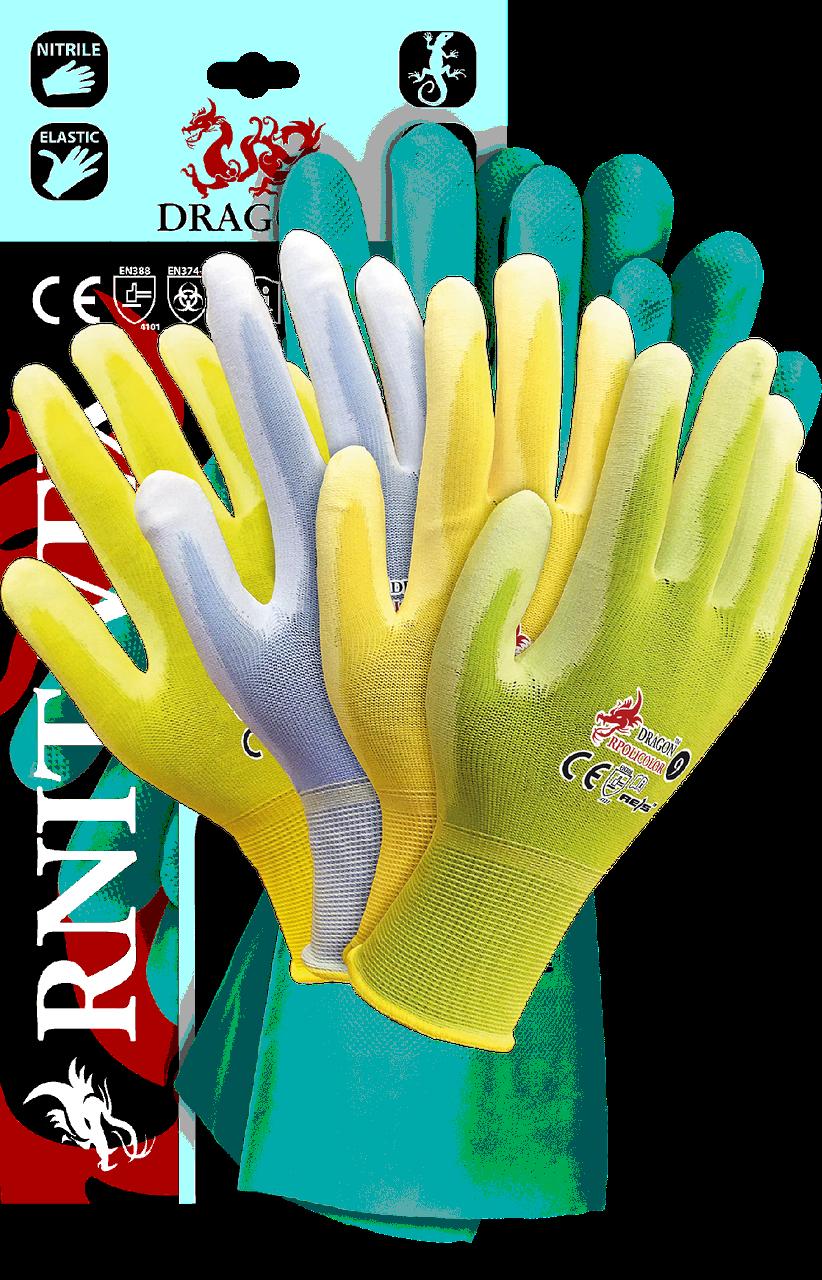 Защитные перчатки,RPOLICOLOR MIX-YPZJN выполненные из нейлона ярких цветов Reis Польша