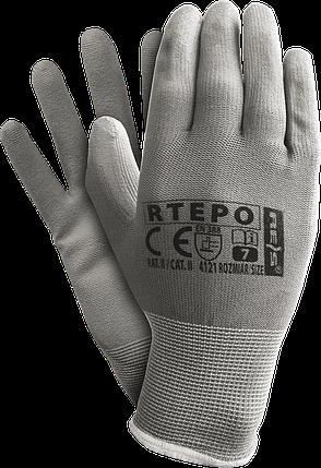 Защитные рукавицы RTEPO SS изготовленные из полиэстера, покрытые полиуретаном Reis Польша, фото 2