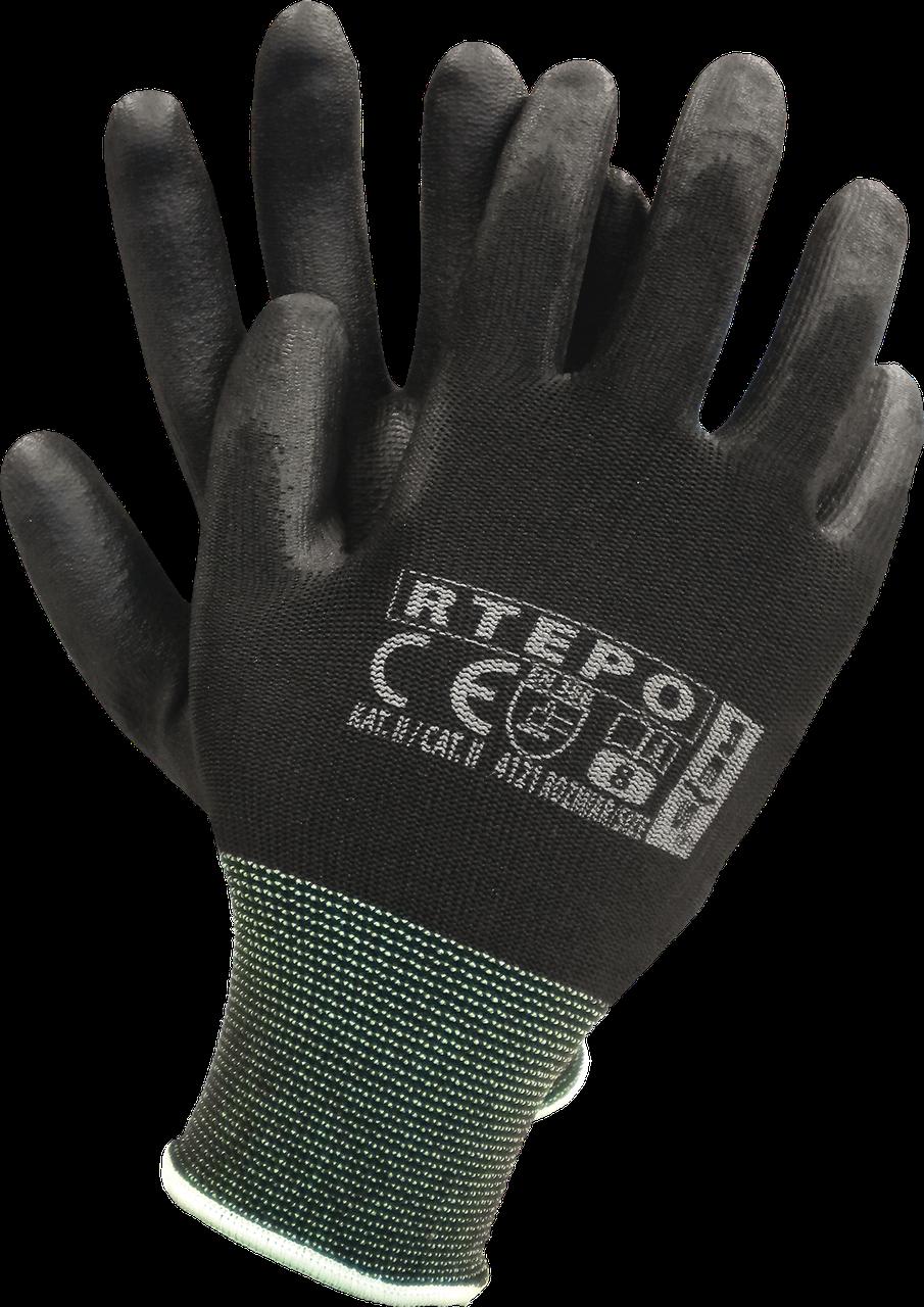 Защитные рукавицы RTEPO BB изготовленные из полиэстера, покрытые полиуретаном Reis Польша