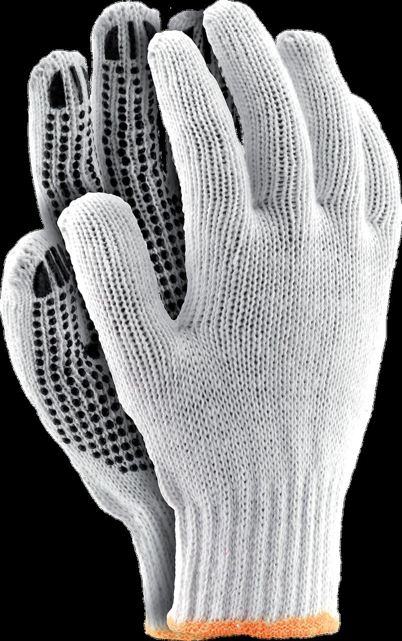 Перчатки RDZN WB защитные, сделанные из х/б с односторонним слоем ПВХ Reis Польша