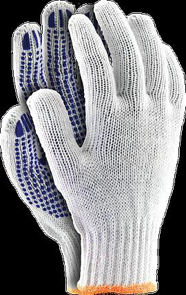 Перчатки RDZN WN защитные сделанные из х/б с односторонним слоем ПВХ Reis Польша, фото 2